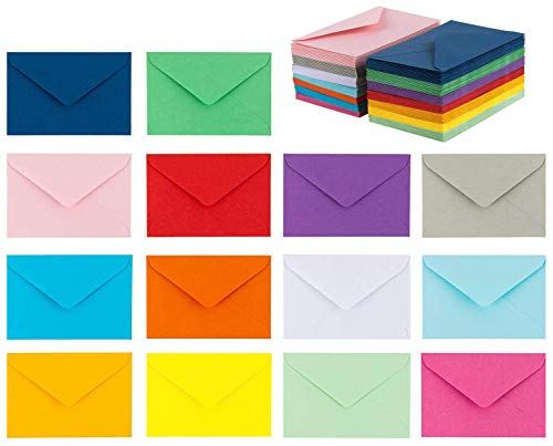 140 Mini Envelopes 14 Assorted Colors Gift Card Business Card Envelopes 4x 27
