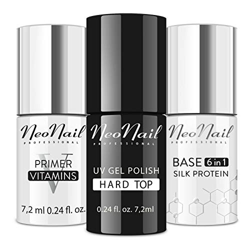 NeoNail Set 3x UV 7,2 ml Base + Top + Primer Vitamins säurefreies Präparat