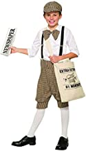 Gatsby 1920's Newsboy Newsie Boys Child Costume Newspaper Carrier Size 2-6