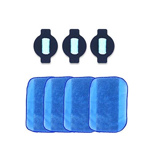 nbvmngjhjlkjlUK Pcs Plateau Humide, mèche d'eau et 4 lingettes Pro-Clean pour Irobot Braava 380 380T 5200 menthe5200C 4200A 4205 Braava 380Nettoyage du Sol