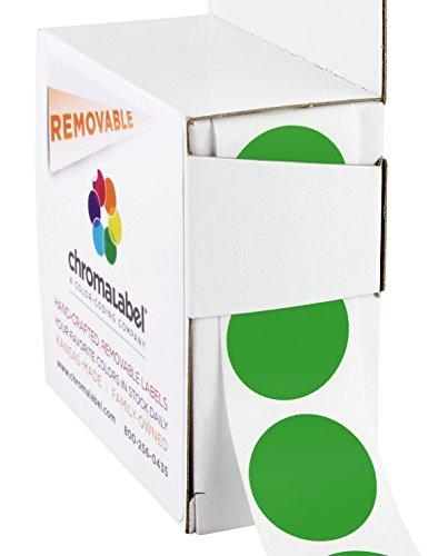 ChromaLabel - Etiquetas de colores extraíbles (2,54 cm, 1000 unidades)