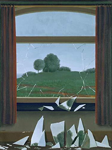 A Chave dos Campos de René Magritte - 75x99 - Tela Canvas Para Quadro