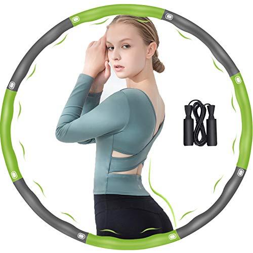 DUTISON Hula Reifen Hoop Erwachsene, 6-8 Segmente Abnehmbar und Grösse Einstellbar Reifen für Gewichtsreduktion/Fitness/Sport