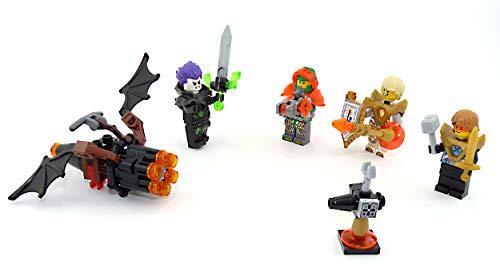 5er Set Nexo Knights Figuren. Fledermausflitzer, Aaron, Lance, Fred und Robin