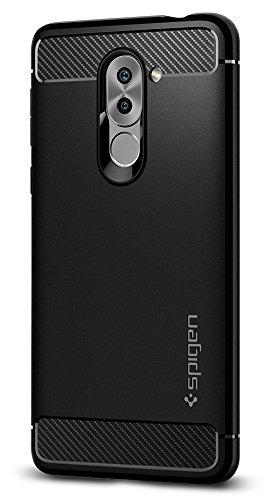 Spigen Huawei Honor 6X Hülle [Rugged Armor] Karbon Erscheinungsbild [Schwarz] Stylisch Silikon Handyhülle Schutzhülle Huawei Honor 6X (2017) / GR5 2017 / Huawei Mate 9 Lite Case Cover Black (L12CS21415)