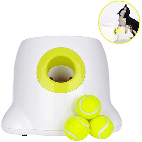 Automatic Interactive Dog Tennis Ball Launcher Interactive Dog Toys Ball Thrower Automatic Dog Feeder with Tennis Balls for Dogs to Play and Train