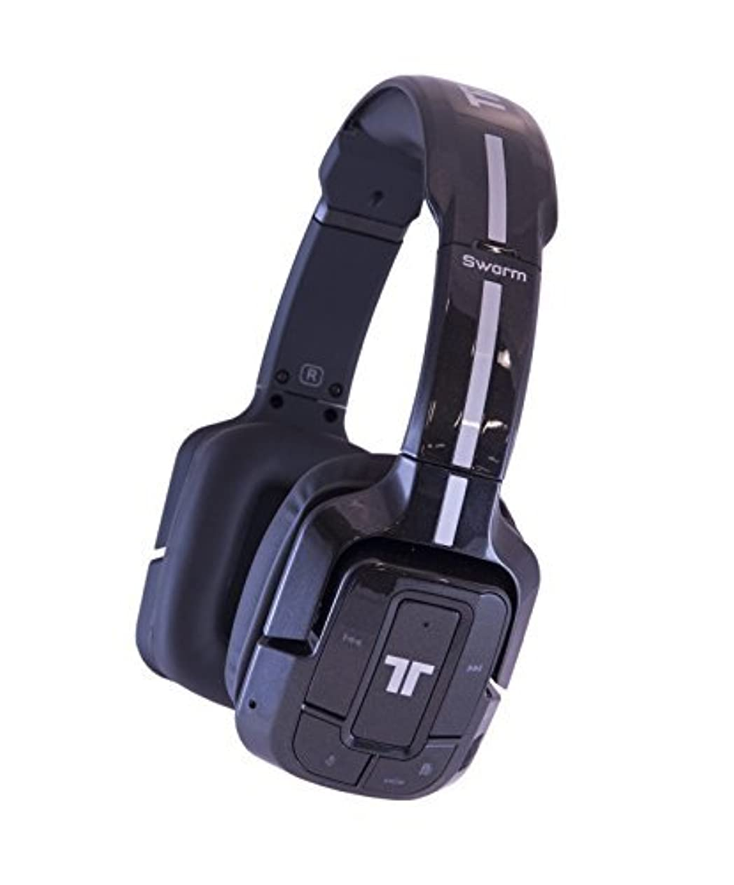 誓いハードストッキングTRITTON Swarm Wireless Mobile Headset with Bluetooth Technology for Android, iOS, Smartphones, Tablets, PC, Mac, and Gaming Consoles - Metallic Black by TRITTON [並行輸入品]