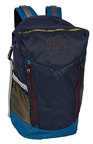 Scotch & Soda Colourblock Backpack Roll-Top Combo A