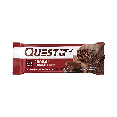 Quest Nutrition Protein Bar Chocolate Brownie 12 x 60 g, 1er Pack (1 x 720 g)