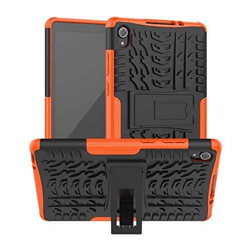 DWaybox Custodia per Lenovo Tab M8 FHD 8.0 TB-8705F TB-8705N Armatura Antiurto Heavy Duty 2in1 Cover a Doppio Strato per Tablet Lenovo Tab M8 FHD Custodia con cavalletto -Arancia