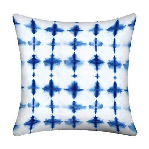 Kissenbezüge Navy Abstrakte Krawatte Indigo Farbe Blau Batik Tinte Wiederholen Aquarell Kissenbezüge Kissen Verwendung für Wohnzimmer Bett Sofa