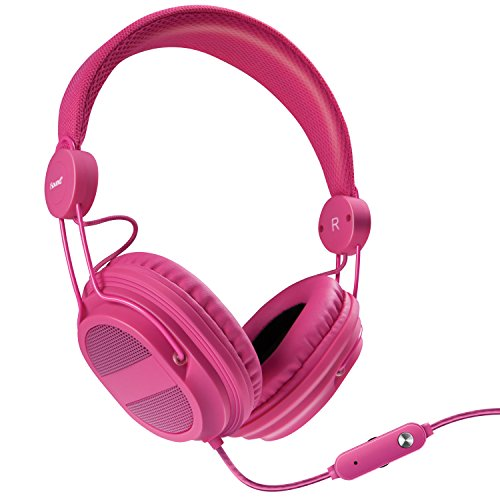iSound DGHP-5538 Kid Friendly Headphones with Mic and Music Volume, Pink