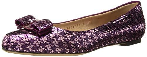 SALVATORE FERRAGAMO Women's Varina Ballet Flats, Purple, 9.5C