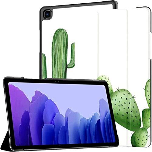 Funda para Samsung Galaxy Tab A7 Tablet 2020 de 10,4 Pulgadas (sm-t500 / t505 / t507), Conjunto de Cactus Ilustración de Acuarela en Blanco Cubierta de Soporte de múltiples ángulos con activación/s