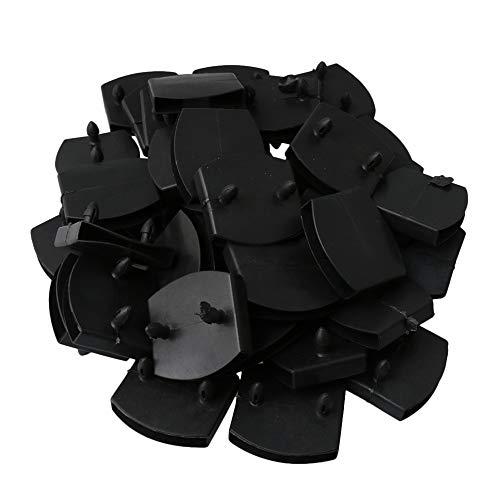 RDEXP 50-teilige Doppelköpfige Kunststoffhalterung für Bettbrett 55 mm Innenloch Schwarz