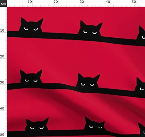 Katzen Stoffe - Individuell Bedruckt von Spoonflower - Design von Strange Phenomena Gedruckt auf Baumwollstoff Klassik