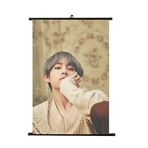 NUOFENG Kpop Bangtan Boys MIC Drop Poster Wall Scroll Hanging Paintings for A.R.M.Y (H07)