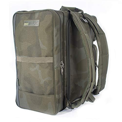 Sonik SK-TEK Ruckbag - Wasserabweisender Angelrucksack groß Karpfen für das Sonik Taschensystem - Rucksack Angler für Angelzubehör
