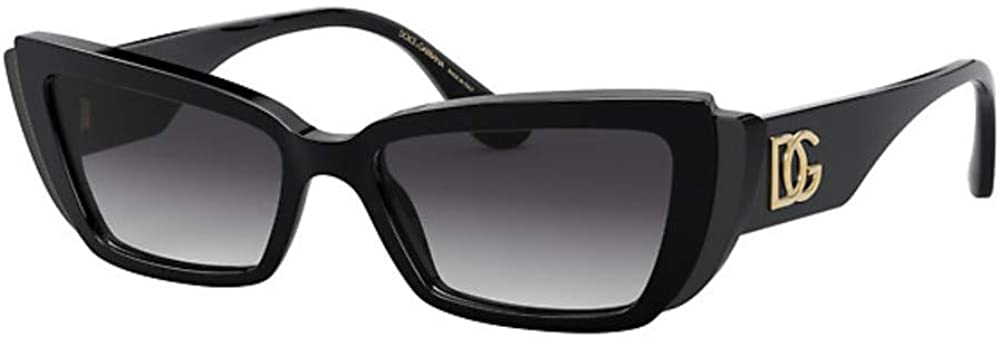 Dolce & gabbana, occhiali da sole da donna, montatura nera, e lenti colore grigio DG4382 501/8G