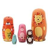 Schimer 5pcs Russische Matrjoschka Puppen Bär Design Stapeln Spielzeug Puppe Babuschka...
