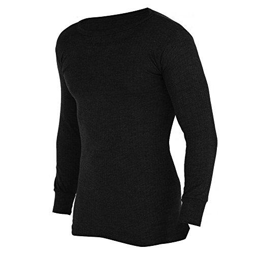 Floso - T-Shirt Thermique à Manches Longues (en Viscose) - Homme (XL) (Noir)