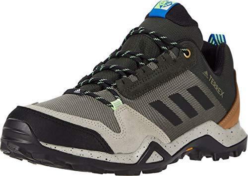 adidas Men's Terrex Ax3 Hiking Boot, Legacy Green/Black/Glory Blue, 12