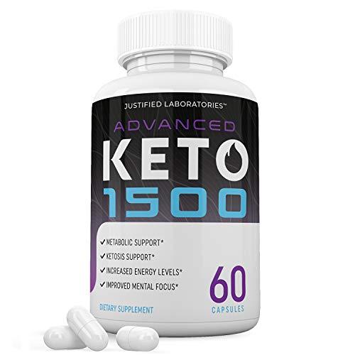 Advanced Keto 1500 Pills Ketogenic Supplement Includes goBHB Exogenous Ketones Premium Ketosis Support for Men Women 60 Capsules 1 Bottle