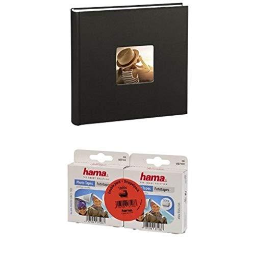 Hama Jumbo Fotoalbum Fine Art, 100 schwarze Seiten, schwarz + Hama Fototapes, selbstklebend, 1000 Stück, transparent
