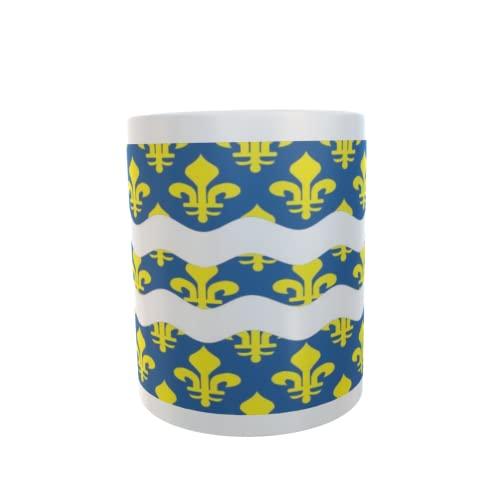 U24 Tasse Kaffeebecher Mug Cup Flagge Seine et Marne Department