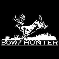 カーステッカー 16センチメートル* 9センチメートル弓ハンター狩猟カースタイリング車のステッカーの装飾ビニールデカール カーステッカー (Color Name : Silver)