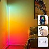 Lightsjoy Lámpara de Pie LED RGB Regulable 158cm 20W Lámpara Moderna Con Mando a Distancia y APP Luz de Esquina Suelo Desmontable Multimodo Cambio Lámpara de atmósfera ensueño para Salón Dormitorio