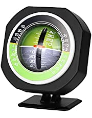 Inclinómetro del vehículo del Coche, indicador Luminoso del indicador de inclinación del Nivel del inclinómetro del Coche del LED Equipo de Medida del balanceador del medidor de Pendiente del