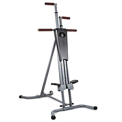 440Lb Sturdy & Durable Exercise Climber Stepper Cardio Climbing Machine LCD Workout Vertical Cardio Lightweight & 5 Levels Adjustable Height Full-Body Workout Machine for Leg Exercise Cardio Workout