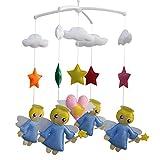 Juguetes de cuna para bebés, campana móvil de cuna de juguete musical para bebés para ayudar a que el bebé se duerma, ángel