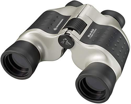Bresser Fernglas 8x40 Porro mit Mitteltrieb, robuster Gummiarmierung, Stativanschlussgewinde und vollvergüteter Optik inklusive Trageriemen und Transporttasche