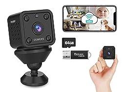 Microcamere Spia - CUSFLYX Cloud 1080P WiFi HD Telecamera di Sorveglianza Rilevazione del Movimento Visione Notturna Bambinaio Casa Sicurezza Telecamera 150°Angolo Ampio per IOS /Android (2.4G Only): Amazon.it: Fai da te