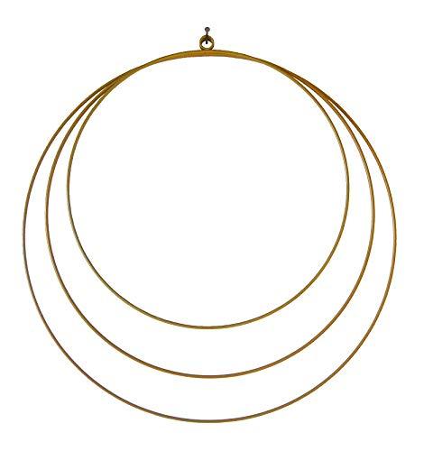 3er Set Metall-Ringe in Gold/Wand-Deko-Ration/Blumen-Deko/Hochzeit-s-Deko-Ration/Wand-Bild/Moderne Wohnung-sdekoration/Wand-Deko/Bastel-Zubehör