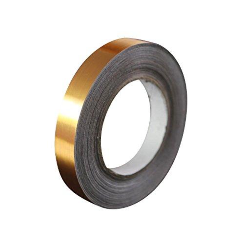 B Blesiya - Adhesivo para baldosas, Lámina dorada., 5mm x 50m