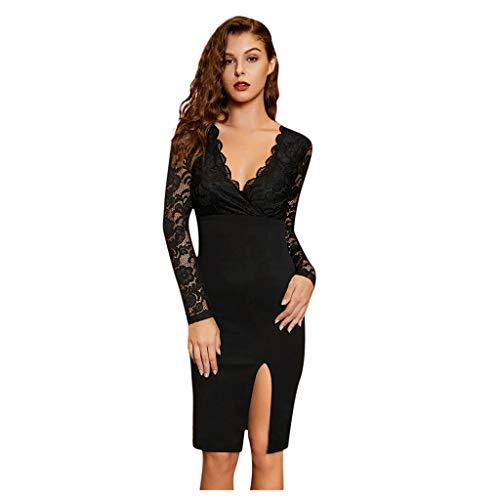 NPRADLA Minikleid Abendkleid Cocktailkleid Business Kleid Dress
