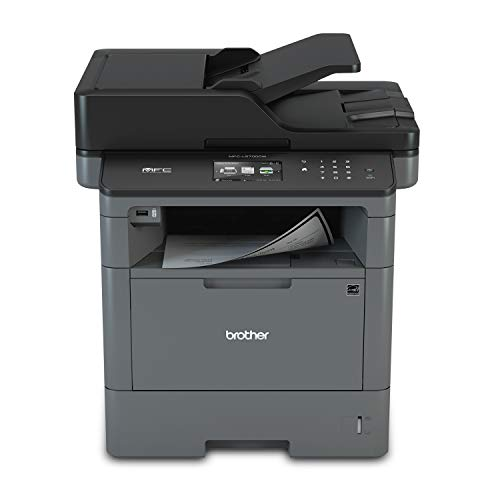 Brother Monochrome Laser Multifunction All-in-One Printer, MFC-L5700DW, Flexible Network Connectivity, Mobile Printing & Scanning, Duplex Printing, Amazon Dash Replenishment Enabled, Black