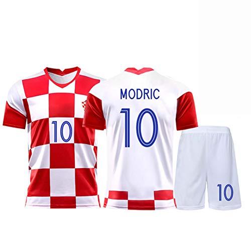YGLCH Modric Match Jersey,2020 Croatian Team Jersey European Cup Home Football Uniform Suit Men,K,M