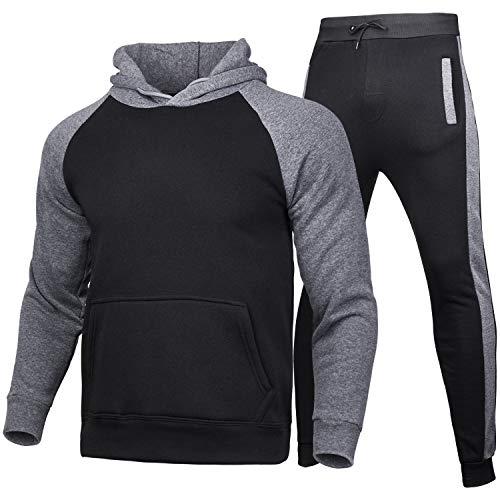 Geagodelia Juego de 2 piezas de ropa deportiva de invierno para hombre,...