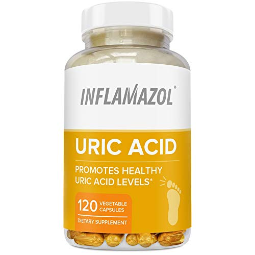 Inflamazol - Uric Acid Cleanse & Joint Support | Restore Joint Comfort, Mobility, Flexibility | Tart Cherry, Celery Seed, Turmeric & More | 120 Vegetarian Capsules