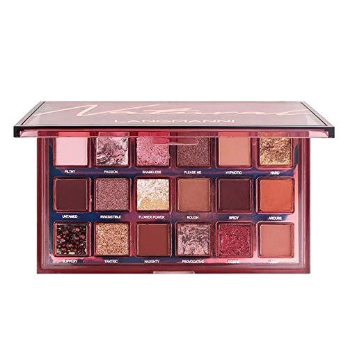 Paleta de sombras de ojos Maritown Rosy Starry de 18 colores, paleta de maquillaje de ojos de tono rojo vino con sombra de ojos ultra pigmentada
