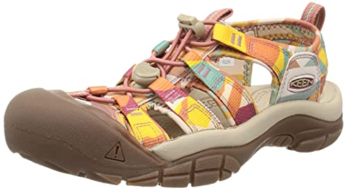 KEEN Women's Newport H2 Closed Toe Water Shoe Sport Sandal, Brick Dust/Multi, 9.5