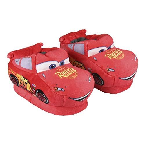 Cerdá Jungen Zapatillas de Casa 3D Cars 3 Hausschuhe, Rot (Rojo C06), 23/24 EU