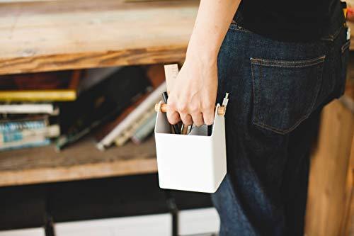 山崎実業(Yamazaki)ペンスタンドホワイト約W12×D8.5×H14.5cmトスカペン立てハンドル付き北欧風4151
