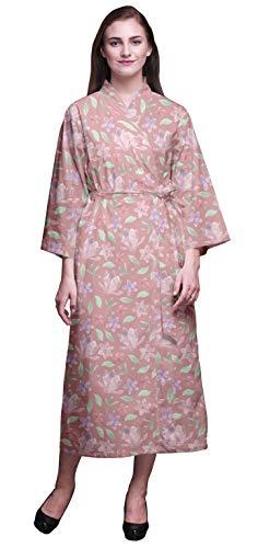 Bimba Rosa Sucio Floral Hojas y Vinca Batas de baño para Mujer Envolver Novia Impresa preparando Bata Vestido para Las niñas S