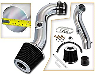 Rtunes Racing Short Ram Air Intake Kit + Filter Combo BLACK Compatible For 00-05 Lexus IS300 …
