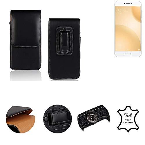 K-S-Trade® Holster Gürtel Tasche Für Xiaomi Mi 5c Handy Hülle Leder Schwarz, 1x